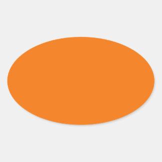 Oranje Ovale Sticker