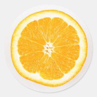 Oranje plak ronde sticker
