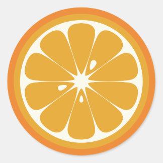Oranje Plak Ronde Stickers