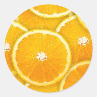 Oranje plakken ronde stickers