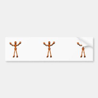 Oranje Skelet Bumpersticker