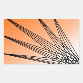 Oranje Starburst Rechthoek Sticker
