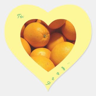 Oranje sticker
