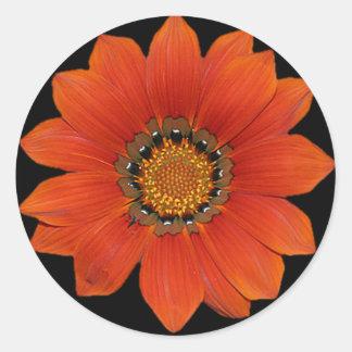 Oranje Sticker Flower2