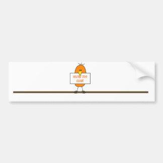 Oranje vogel bumpersticker