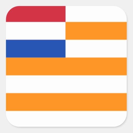 Oranje-Vrystaat Vierkante Sticker