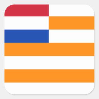 Oranje-Vrystaat Vierkant Stickers