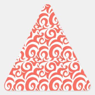 Oranje Wervelingen Driehoekvormige Stickers