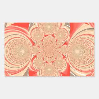 Oranje wervelingsontwerp rechthoekvormige sticker