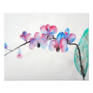Orchidée abstraite d'aquarelle photos sur toile