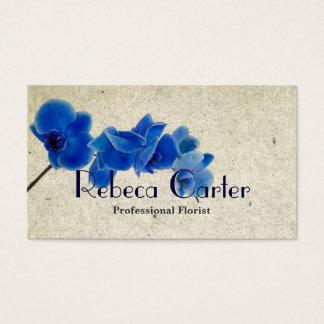 Orchidée bleue de carte de visite professionnel de