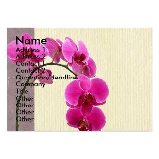 Orchidée pourpre carte de visite grand format