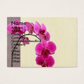 Orchidée pourpre cartes de visite