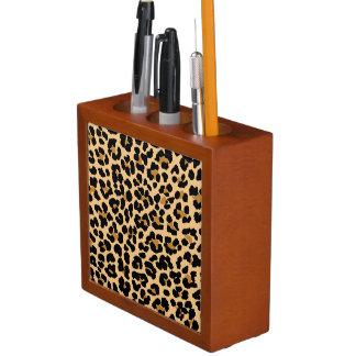Organisateur de bureau d'empreinte de léopard
