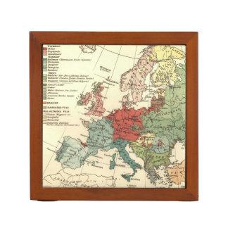 Organiseur De Bureau Carte d'antiquité de cru de l'Europe