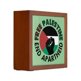 Organiseur De Bureau Drapeau libre de la Palestine d'apartheid de fin