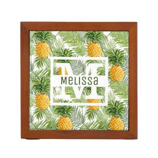 Organiseur De Bureau Les palmettes et les ananas tropicaux | ajoutent