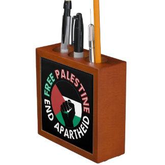 Organiseur De Bureau Noir libre de poing de drapeau d'apartheid de fin