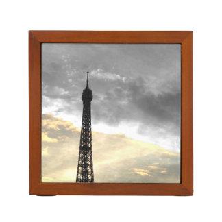 Organiseur de bureau tour Eiffel or et argent