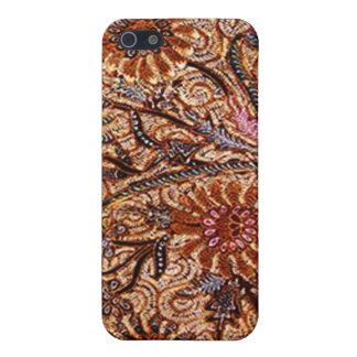 ori de Buket-Kelir-Pacit-Ungker de motif de batik Étuis iPhone 5