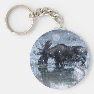 orignaux de taureau de faune de région sauvage porte-clés