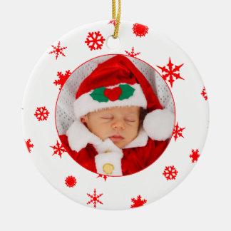 Ornament van de Foto van de baby het Eerste