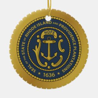Ornament van Kerstmis van Rhode Island * het