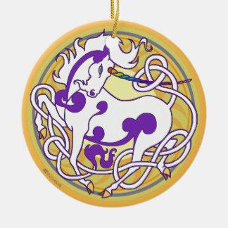 Ornement 2014 en céramique de licorne -