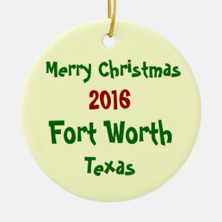ORNEMENT 2016 de JOYEUX NOËL de Fort Worth le