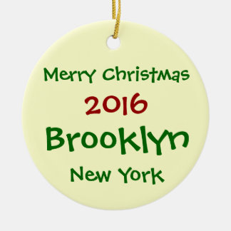 ORNEMENT 2016 DE JOYEUX NOËL DE NEW YORK BROOKLYN