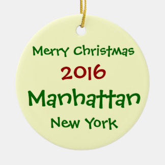ORNEMENT 2016 DE JOYEUX NOËL DE NEW YORK MANHATTAN