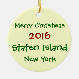 ORNEMENT 2016 de NOËL de NEW YORK Staten Island NY