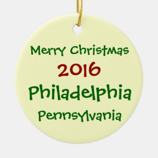 ORNEMENT 2016 DE NOËL DE PHILADELPHIE PENNSYLVANIE