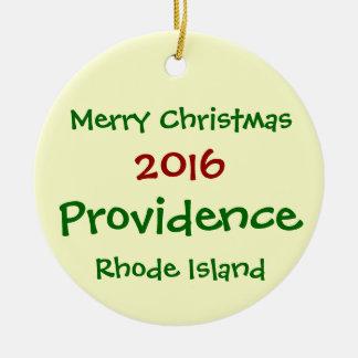 ORNEMENT 2016 de NOËL de Providence Île de Rhode
