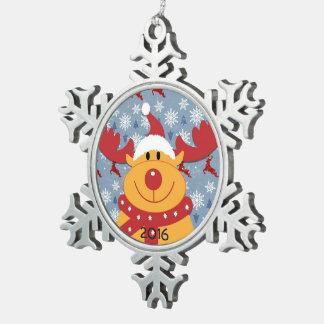 Ornement 2016 de Noël de renne