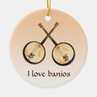 Ornement abstrait d'instrument de musique de banjo