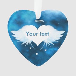 Ornement acrylique de coeur - ange du coeur