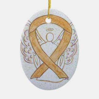 Ornement ambre de pendentif d'ange de ruban de