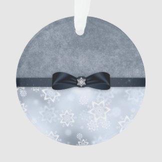 Ornement argenté de Noël de flocon de neige