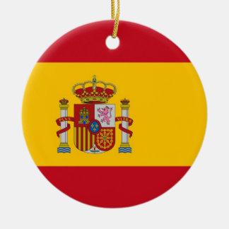 Ornement avec le drapeau de l'Espagne