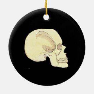 Ornement beige de cercle de crâne