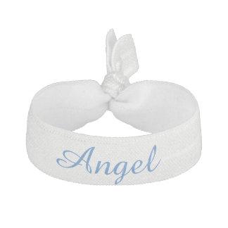 ornement blanc de cheveux d'ange élastique à cheveux