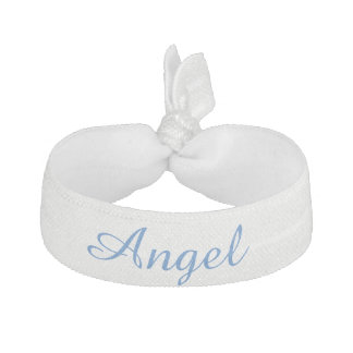 ornement blanc de cheveux d'ange élastique pour cheveux
