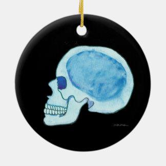 Ornement bleu de cercle de crâne