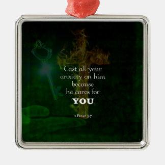 Ornement Carré Argenté 1 5:7 de Peter élevant la citation de vers de