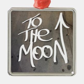 Ornement Carré Argenté À la lune