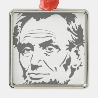 Ornement Carré Argenté Abraham Lincoln