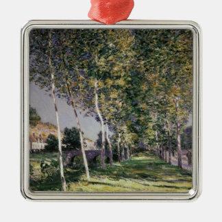 Ornement Carré Argenté Alfred Sisley | la promenade