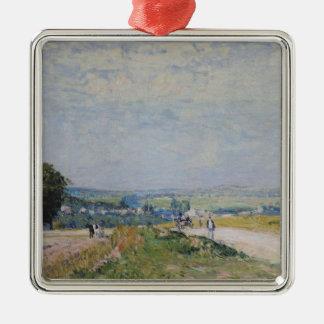 Ornement Carré Argenté Alfred Sisley | la route à Montbuisson
