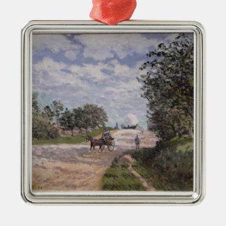 Ornement Carré Argenté Alfred Sisley | la route de Mantes